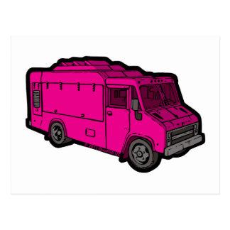 Camión de la comida: Básico (rosa) Tarjeta Postal