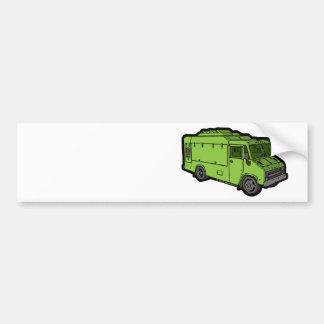Camión de la comida: Básico (verde) Pegatina Para Auto