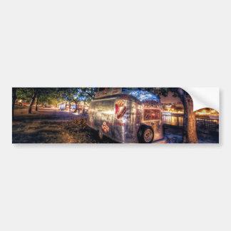 Camión de la comida de Southbank, Londres Etiqueta De Parachoque