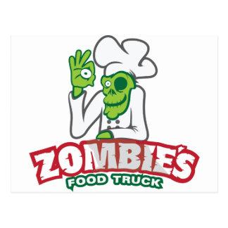 Camión de la comida del zombi tarjetas postales
