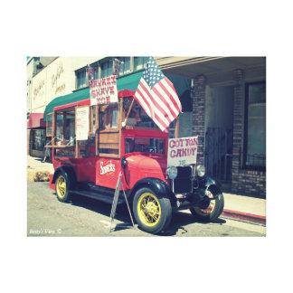 Camión de la comida en Placerville- viejo Lona Envuelta Para Galerias