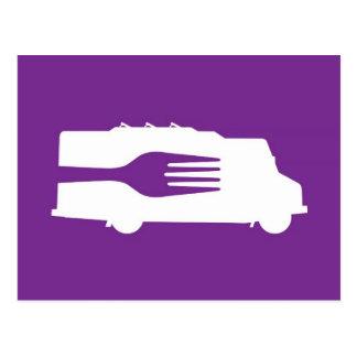 Camión de la comida: Lado/bifurcación (púrpura) Postal