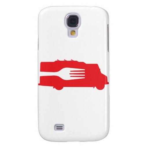 Camión de la comida: Lado/bifurcación (roja) Funda Para Galaxy S4