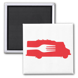 Camión de la comida: Lado/bifurcación (roja) Iman