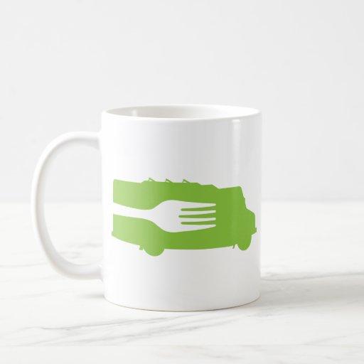Camión de la comida: Lado/bifurcación (verde) Taza