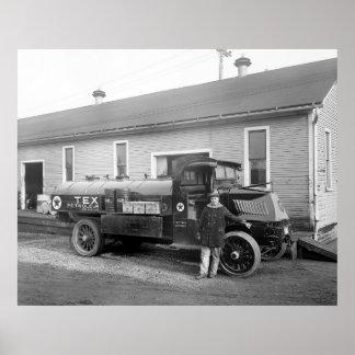 Camión de la compañía petrolera, 1900s tempranos póster