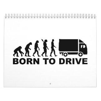 Camión de la evolución llevado para conducir calendario