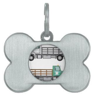 Camión de la granja placas de mascota