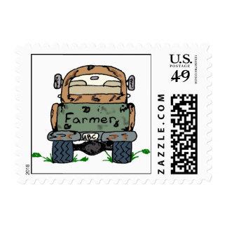 Camión de la granja sello