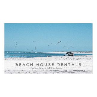 Camión de la playa tarjeta de negocio