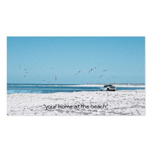 Camión de la playa tarjetas personales