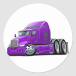 Camión de la púrpura de Kenworth 660 Pegatinas Redondas