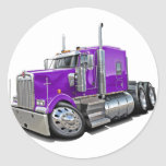 Camión de la púrpura de Kenworth w900 Pegatinas