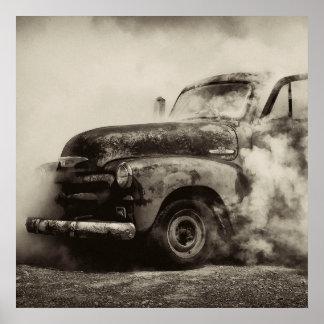 Camión de la quemadura poster