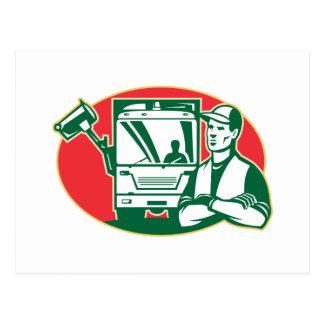 Camión de los desperdicios del colector de basura  postal