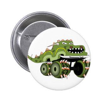 Camión de Monstersaurus Pin Redondo De 2 Pulgadas