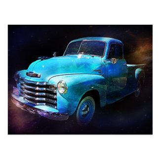 ¡Camión de Omega! Camión azul del vintage Postal