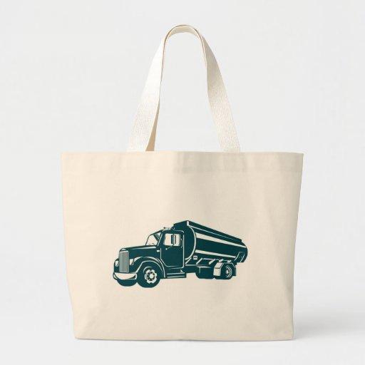 camión de petrolero de la gasolina del combustible bolsa tela grande