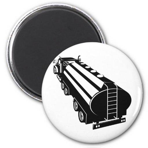 camión de petrolero de la gasolina del combustible imanes