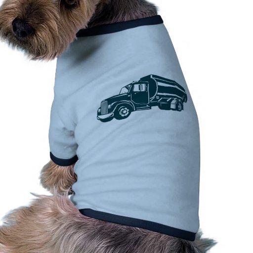 camión de petrolero de la gasolina del combustible camisetas de mascota