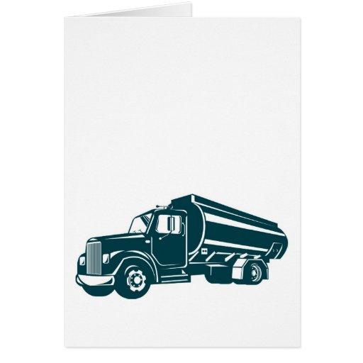 camión de petrolero de la gasolina del combustible tarjetón