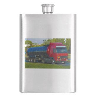 camión de petrolero cantimplora