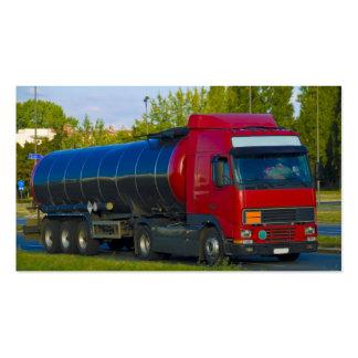 camión de petrolero tarjetas de visita