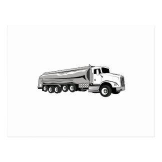 Camión de petrolero tarjetas postales