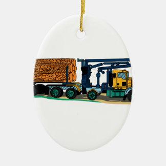 Camión de registración adorno ovalado de cerámica
