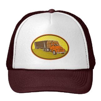 camión de registración del camión retro gorras de camionero