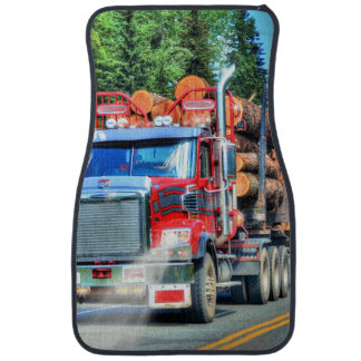 Camión de registración rojo, arte del camionero alfombrilla de auto