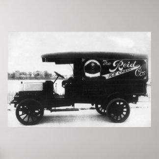 Camión de Reid Ice Cream Company Poster