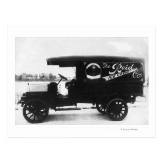 Camión de Reid Ice Cream Company Postal