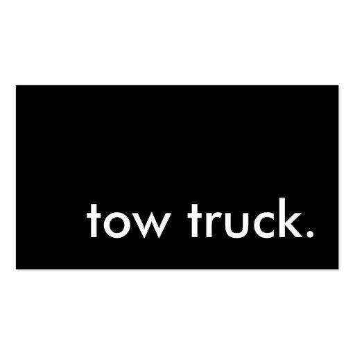 camión de remolque plantilla de tarjeta de visita