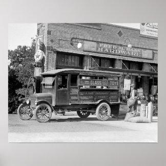 Camión de reparto de la ferretería, 1924. Foto del Póster