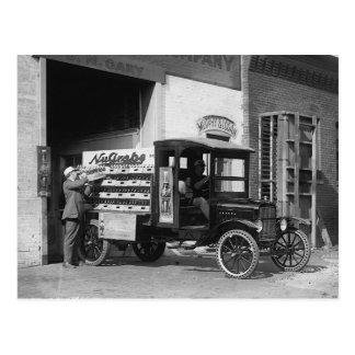 Camión de reparto de la gaseosa, 1924 postal