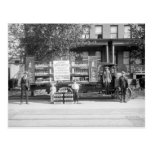 Camión de reparto de la gaseosa, los años 20 postal