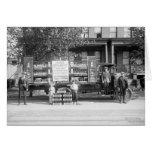Camión de reparto de la gaseosa, los años 20 tempr tarjetón