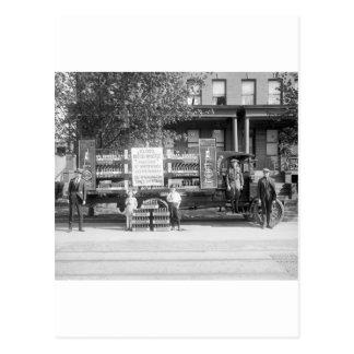 Camión de reparto de la gaseosa, los años 20 tempr postales