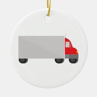 Camión de reparto adorno redondo de cerámica