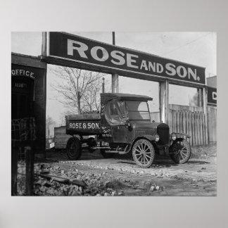 Camión de reparto del carbón, 1925. Foto del Póster