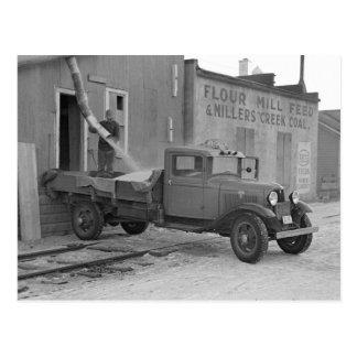 Camión de reparto del grano, 1937 postales