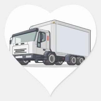Camión de reparto pegatina en forma de corazón
