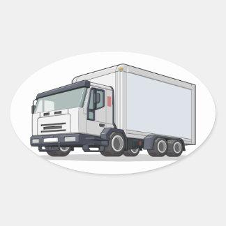 Camión de reparto pegatina ovalada