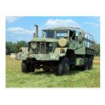 Camión de sobra militar del vintage 6X6 Tarjeta Postal