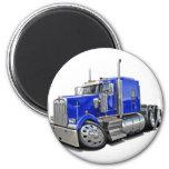 Camión del azul de Kenworth w900 Imán Redondo 5 Cm