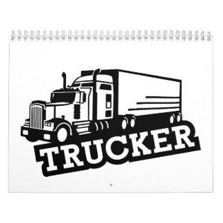 Camión del camionero calendarios