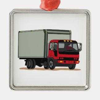 Camión del cargo adorno cuadrado plateado