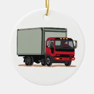 Camión del cargo adorno redondo de cerámica