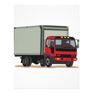 Camión del cargo membretes personalizados
